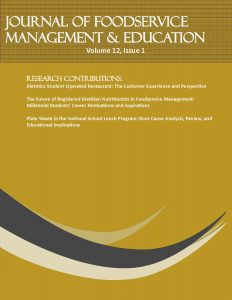 Foodservice Systems Management » The Journal of Foodservice